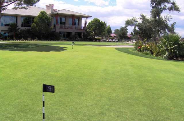 A view from the practice green at WildHorse Golf Club