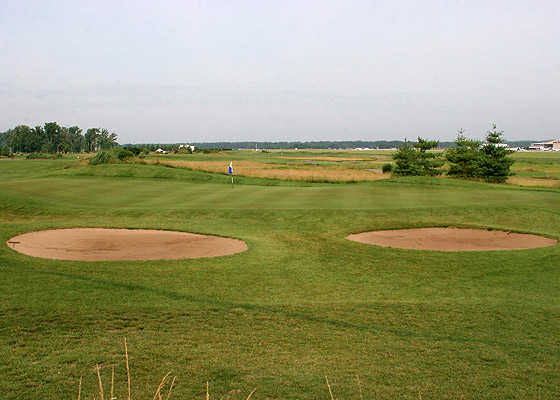 A view of green #7 at Landings At Spirit Golf Club