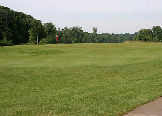 A view of hole #8 from Landings At Spirit Golf Club