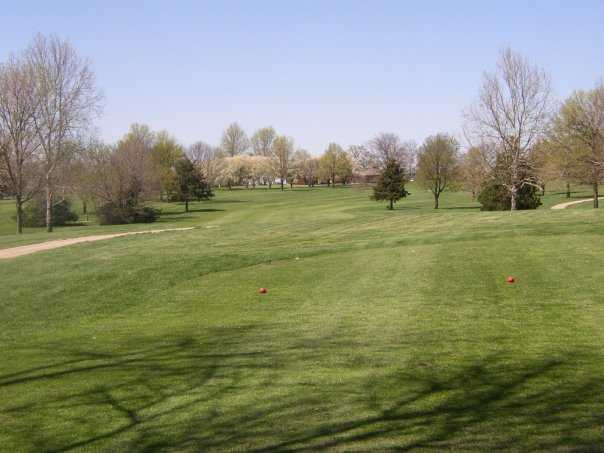 A view from tee at L A Nickell Golf Course