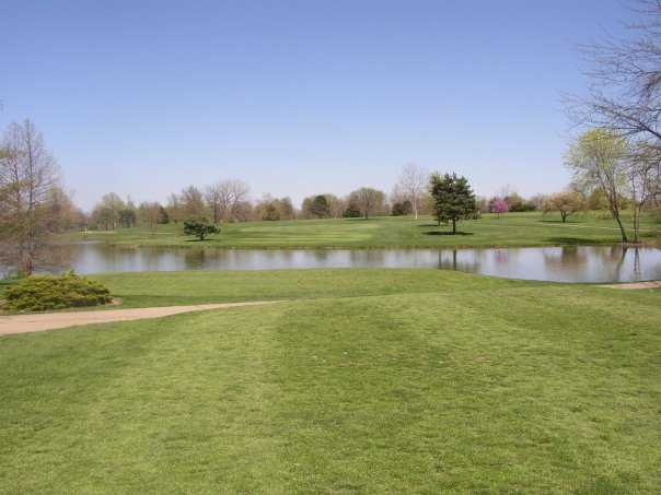A spring view from L A Nickell Golf Course