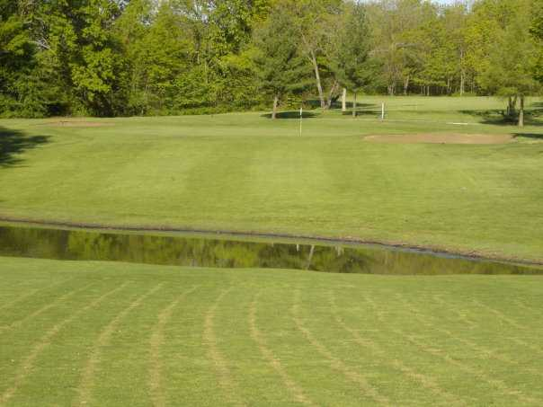 A view of the 12th hole at Lake of the Woods Golf Course