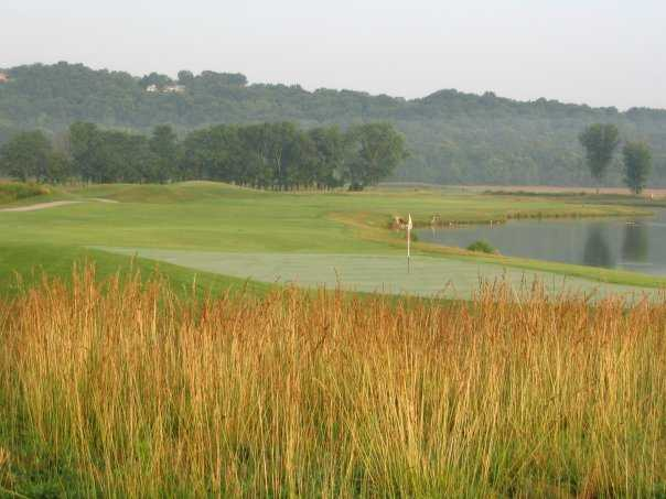 A view of the 18th green at Aberdeen Golf Club