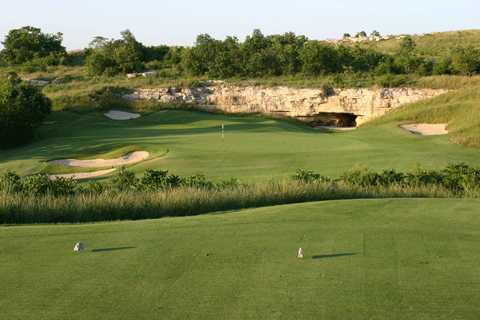 A view from tee #17 at Buffalo Ridge Springs Golf Course