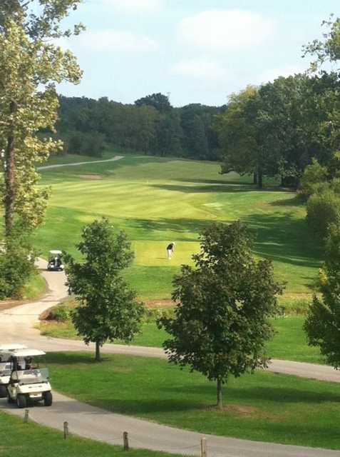 A sunny view of fairway at Wolf Hollow Golf Club
