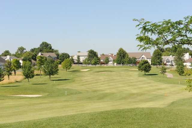 A view of fairway #15 at Falls Golf Club