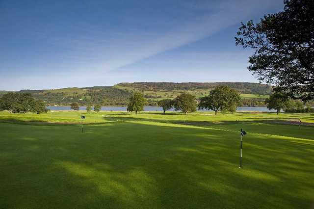 A view of the practice area at Earl of Mar Golf Course