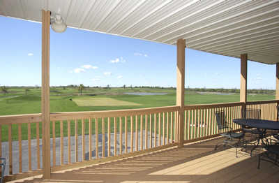 A view from the clubhouse deck at Country Creek Golf Club