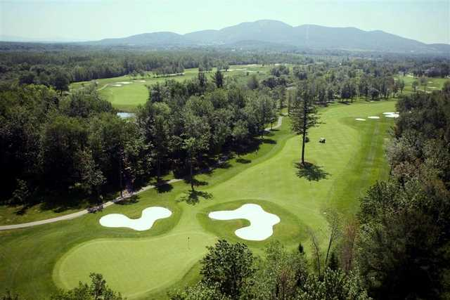 Aerial view from Le Royal Bromont