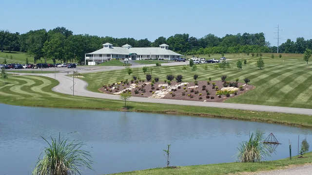 A view of the clubhouse at Woods Fort Country Club