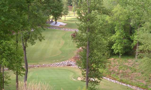 A view of a hole #18 at River Oaks Country Club