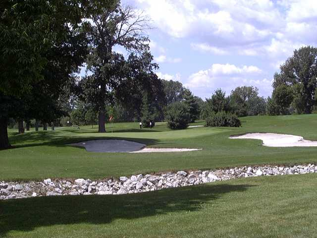 A view of hole #17 at Mercer County Elks Country Club