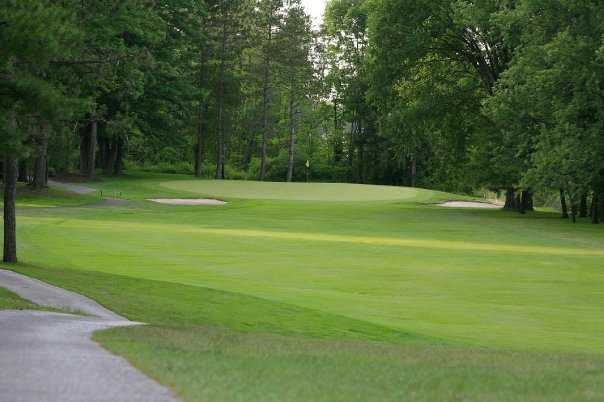 A view of the 3rd green at Chardon Lakes Golf Course