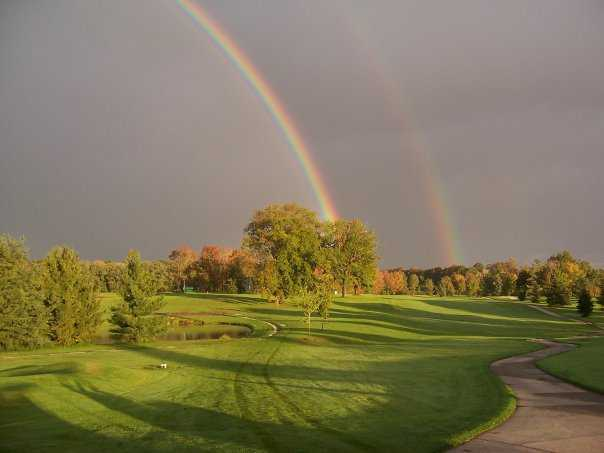 A view of rainbow over St. Denis Golf Course