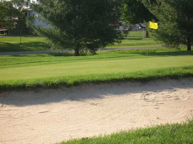 A view of a hole at Jaycee Golf Course