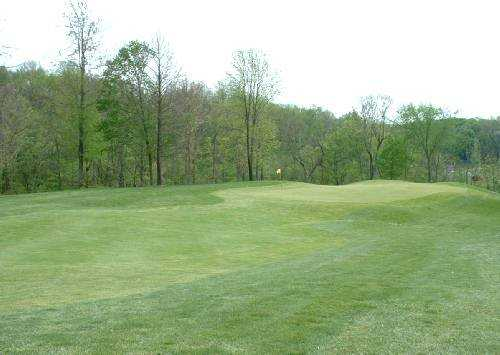 A view of the 1st green at Beech Creek Golf Course