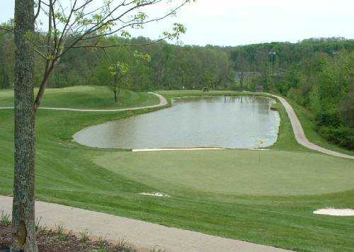 A view of hole #2 with water coming into play at Beech Creek Golf Course