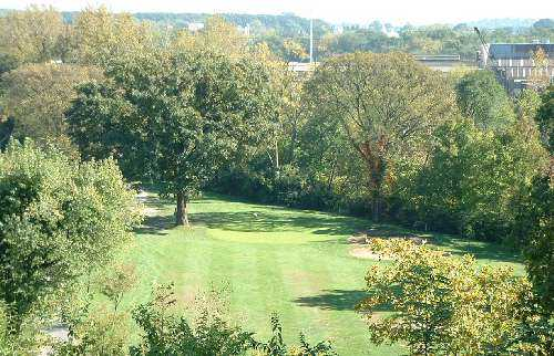 A view of green at Hartwell Recreation Golf Course