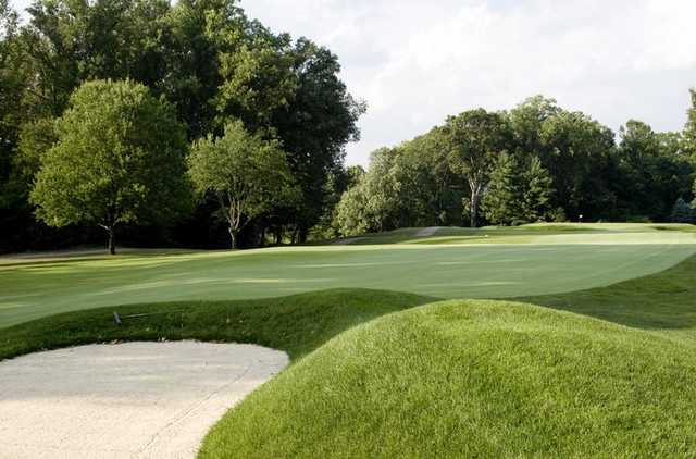 A view of the 13th green at Hyde Park Golf & Country Club