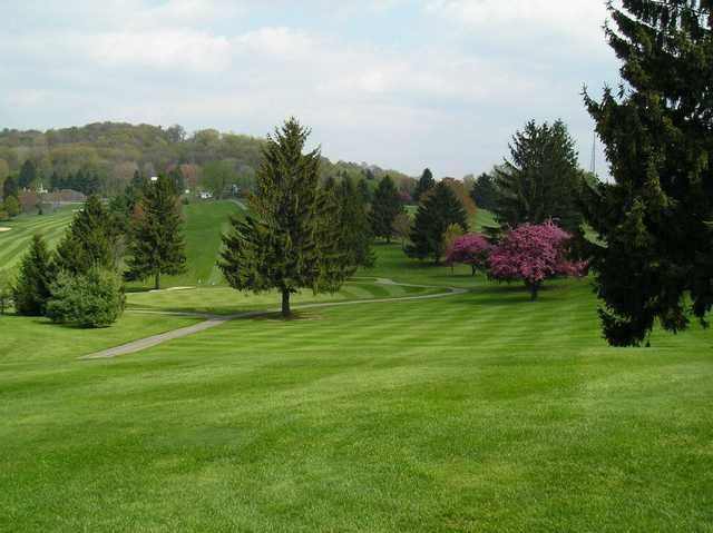 A view from a fairway at Conley Resort