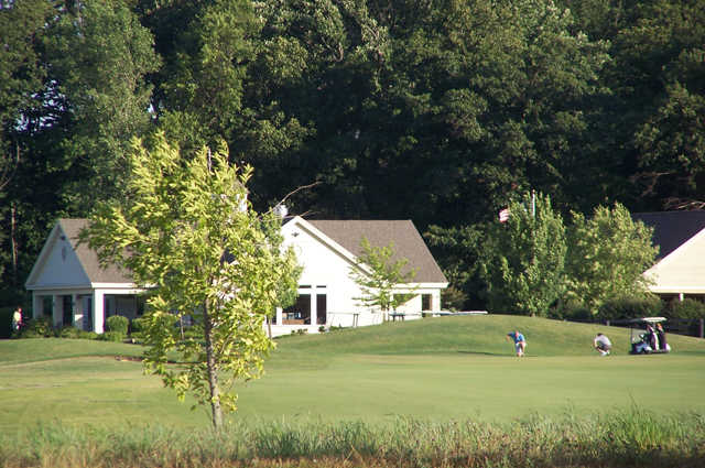 A view of the clubhouse at Hidden Creek Golf Club