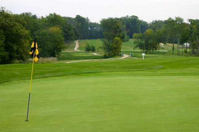 A view of a green at Blues Creek Golf Club