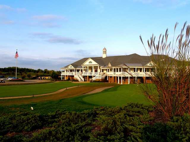 A view of the clubhouse at Colonial Heritage Club