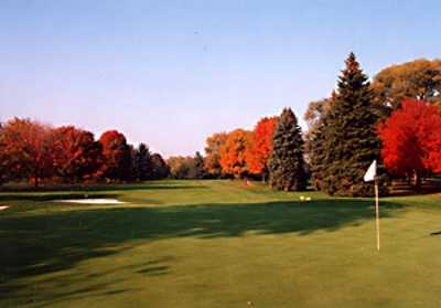 A fall view of a green at Plum Brook Country Club
