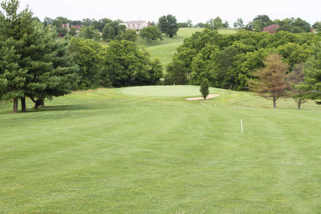 A view of the 3rd green at Longview Golf Course