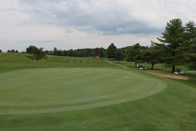 A view of hole #5 at Longview Golf Course