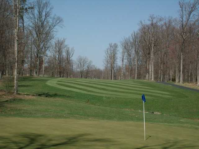 A view of hole #13 at Eagle Trace Golf Course