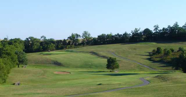 A view of a hole and fairway at Thoroughbred Golf Club at High Point