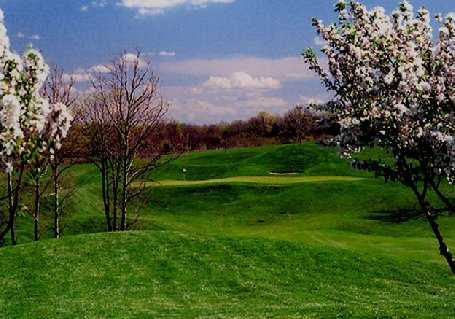 A spring view of the 14th hole at Gibson Bay Golf Course