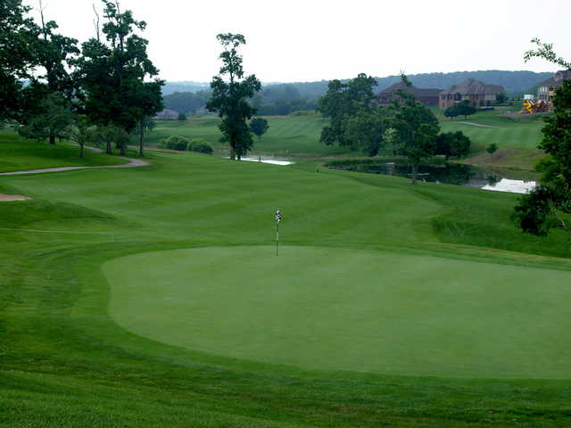 A view of the 18th green from Boone's Trace National GC