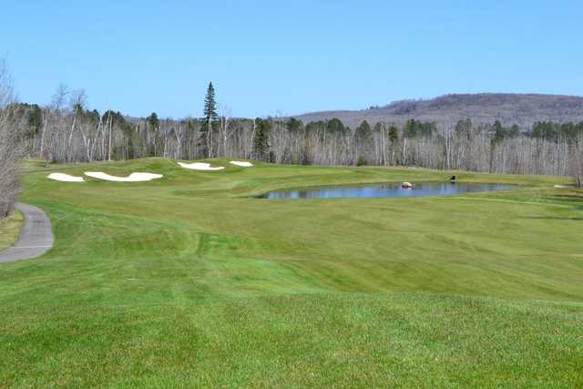 A view of the 9th hole at Legend Course from Giants Ridge Golf & Ski Resort