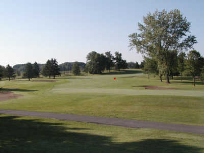 A view of the 18th green at Purple Hawk Country Club