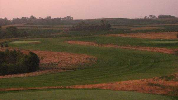 A view of the 4th hole at Executive Nine from Gopher Hills Golf Course