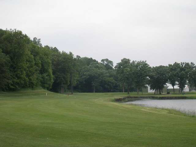 A view of fairway #2 at Eagle Trace Golf Course