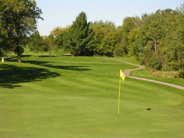 A view of green #2 at Elk River Golf Club