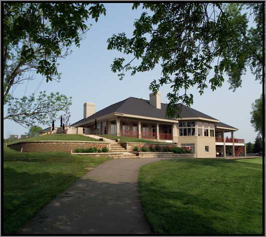 A view of the clubhouse at Hastings Golf Club & Events