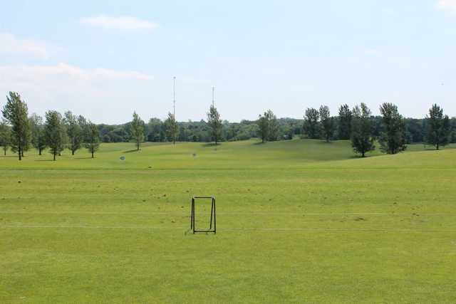 A view of the driving range at Heritage Links Golf Club