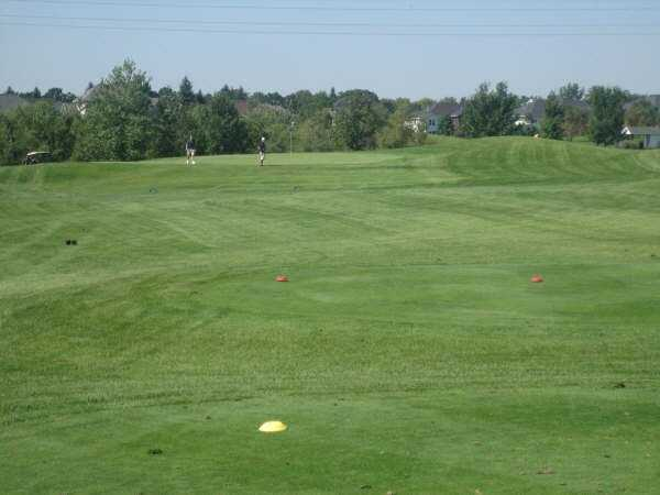 A view from the 15th tee at Oak Marsh Golf Course