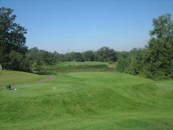 A view from tee #2 at Oak Marsh Golf Course
