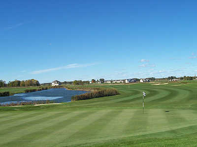 A view of green #10 at Bulrush Golf Club