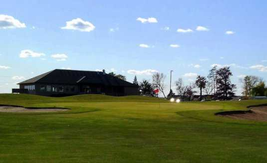 A view of the 9th hole at Red Golf Course from Ponds Golf Club