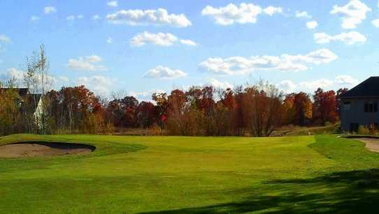 A view of the 3rd green at Blue Golf Course from Ponds Golf Club