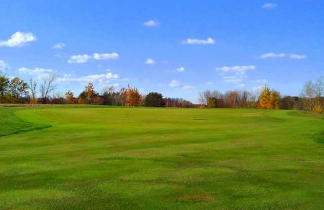 A view of hole #6 at Blue Golf Course from Ponds Golf Club