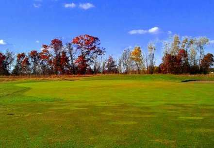 A view of the 8th green at White Golf Course from Ponds Golf Club