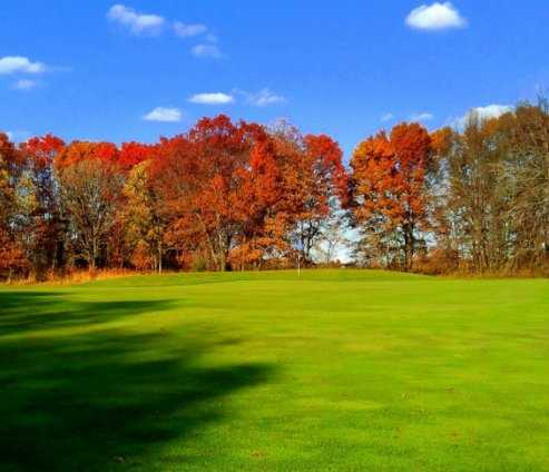 A view of green #5 at White Golf Course from Ponds Golf Club