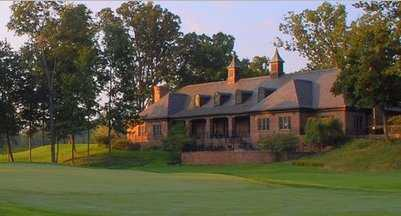 A view of the clubhouse from Warren Golf Course At Notre Dame
